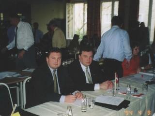 Iestāšanās EMPA 2004.gadā. Andrejs Kanskis un Aivars Dargevičs